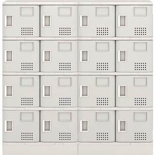直送品 代引き不可(シューズボックス)アイリスチトセ 樹脂ロッカー24人用 樹脂ロッカー24人用 グレー TJL-S46ST-GR