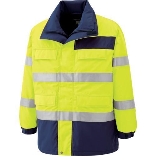 (防寒着)ミドリ安全 高視認性 防水帯電防止防寒コート イエロー 3L SE1124UE3L