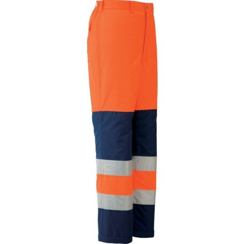 (防寒着)ミドリ安全 高視認性 防水帯電防止防寒スラックス オレンジ LL SE1125SITALL