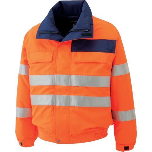 (防寒着)ミドリ安全 高視認性 防水帯電防止防寒ブルゾン オレンジ 3L SE1135UE3L