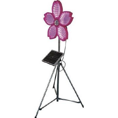 (工事灯)仙台銘板 桜サークラー ソーラー式大型回転灯 三脚付 電源セット 3050800