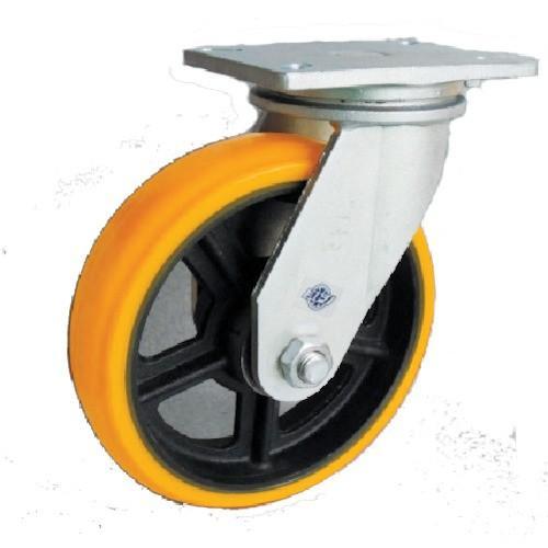 (重荷重用キャスター)ヨドノ 重量用高硬度ウレタン自在車200φ SDUJ200