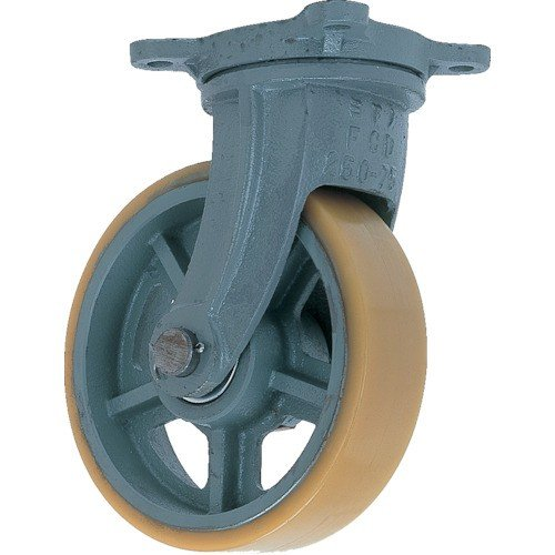 (鋳物製キャスター)ヨドノ 鋳物重荷重用ウレタン車輪自在車付き UHBーg130X65 UHBG130X65