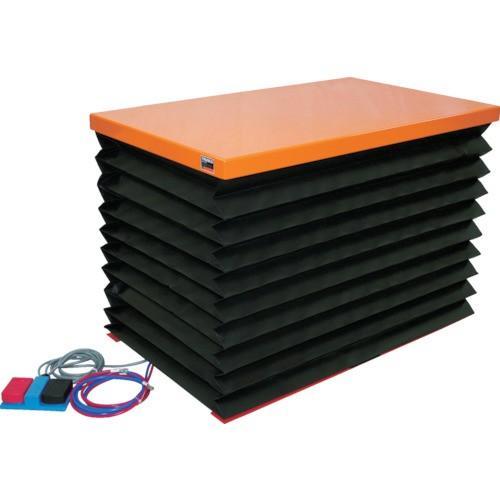 (直送品 代引き不可)(テーブルリフト)TRUSCO テーブルリフト100kg電動BねじDC24V蛇腹付520×850 HDLH1058VJD2