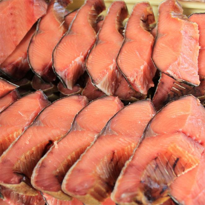 新潟 村上 名産 塩引き鮭 切身 大切100g×10切 お祝い お礼 ギフト|uoya|04