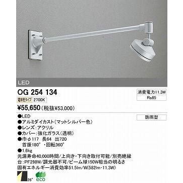 オーデリック エクステリアライト スポットライト 【OG 254 134】 OG254134