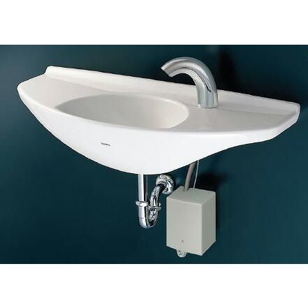 TOTO 手洗器セット カウンター一体形手洗器:L650D 自動水栓:TENA40AW 取付金具:TL250-1D キャップ付木ねじ(2個):TA3N×2 壁排水金具:T22BP