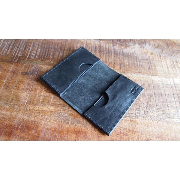 CRUD Nordre Card case Wax Black クルード ノルデ カードケース ワックス ブラック|upi-outdoorproducts|03