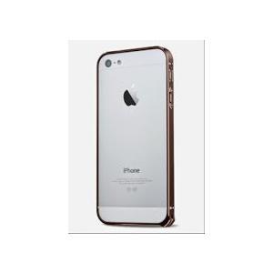 iphone5 / 5s 超薄 アルミ 削りだし バンパー ケース 0.7mm お手入れシート付き (コーヒーa)|upper-ground2