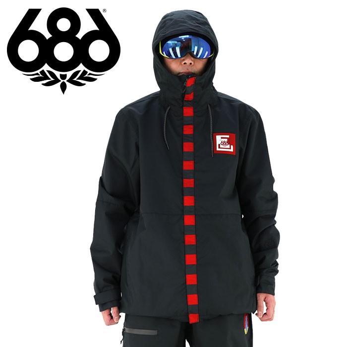 ロクハチロク メンズ スノージャケット (ジャケット単品) 686 スノボウェア ブラック スノボージャケット 耐久撥水 DWR ストリート フリースタイル