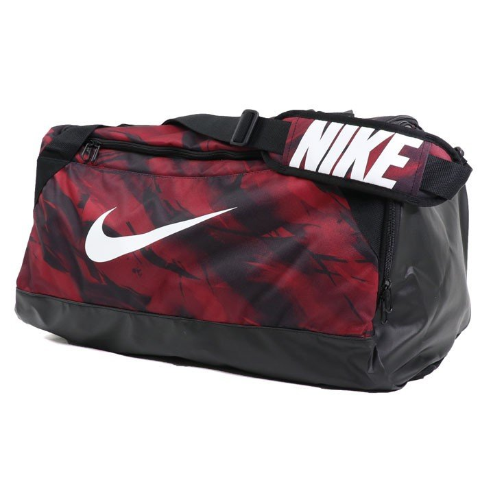 b379ce6c3789 Nike Brasilia 7 Graphic Medium Duffel Bag Black  White BA5481