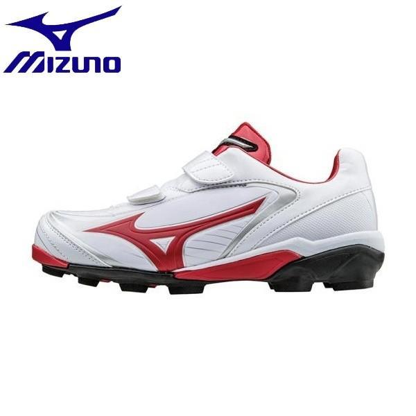 ◆◆ <ミズノ> MIZUNO セレクトナインJr.(野球/ソフトボール)[ジュニア] 11GP1721 (62:ホワイト×レッド)