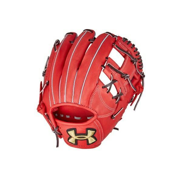 ◆◆ <アンダーアーマー> UNDERARMOUR ベースボール軟式グラブ(ベースボール/軟式グラブ/右投げ内野手用/MEN) 1313799 (RedOrange(113)) アクセサリー 野球