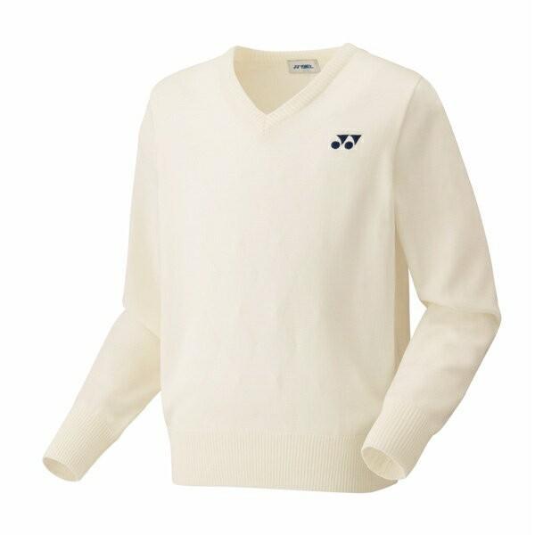 ◆◆ <ヨネックス> YONEX ユニセックス セーター 32014 (200:オフホワイト) テニス(32014-200-ynx1)