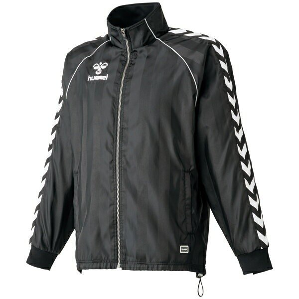 ◆◆ <ヒュンメル> HUMMEL HAW2054 ウインドブレーカージャケット(90:ブラック) ヒュンメル ウィンドブレーカーシャツ(haw2054-90-mkn-hum)
