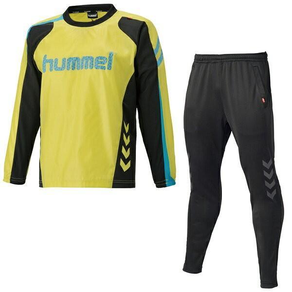 ◆◆ <ヒュンメル> HUMMEL HAW4175SP ピステトップ+テックパンツセット(32:F.イエロー) ヒュンメル トレーニングシャツ(haw4175sp-32-mkn-hum)