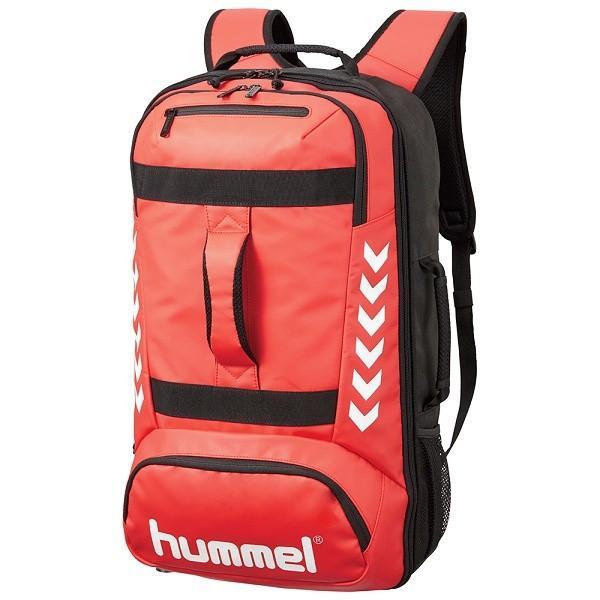 ◆◆ <ヒュンメル> HUMMEL ATHLETE DAYPACK HFB6119 (2090:レッド×ブラック)