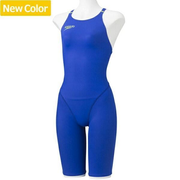 ◆◆□ <スピード> Speedo FASTSKINXT-Wニースキン(II)(レディース/競泳用/オールインワン) SD46H06 (BG:ブルー×フラッシュグリーン) 水泳(sd46h06-bg