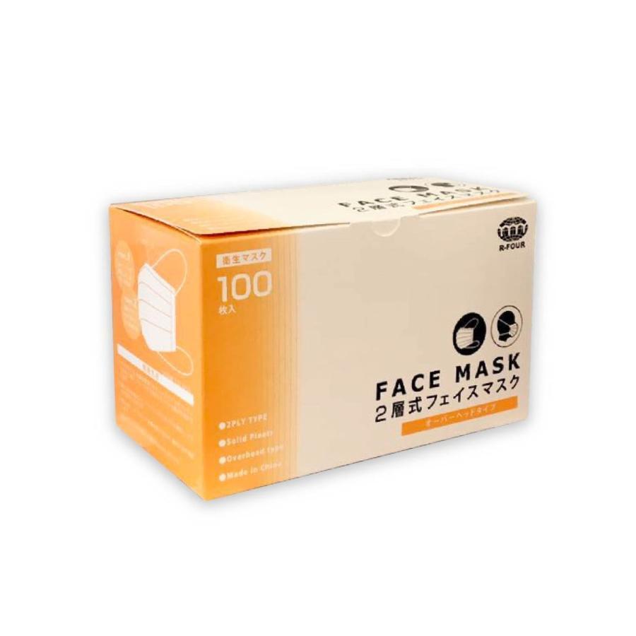 2層マスク 頭掛け 100枚入り オーバーヘッドタイプ 食品工場など用 男女兼用 uqlife 02