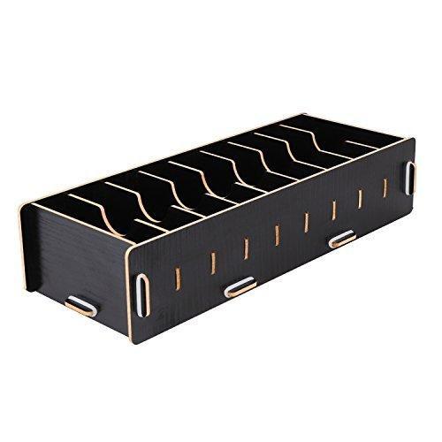 名刺ケース カードケース 8仕切り 木製 卓上収納ラック ロング型 名刺ホルダー めいし 整理箱 オフィス デスクオーガ|urarakastr