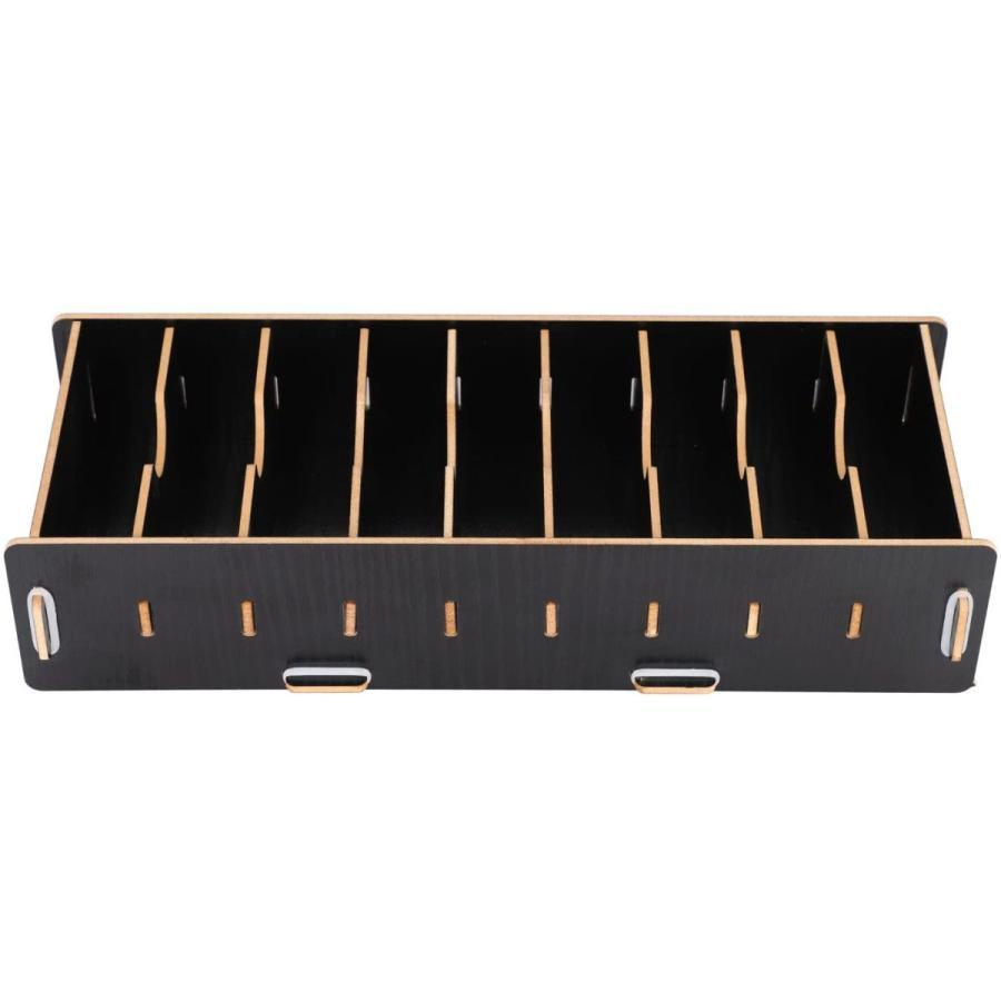 名刺ケース カードケース 8仕切り 木製 卓上収納ラック ロング型 名刺ホルダー めいし 整理箱 オフィス デスクオーガ|urarakastr|04