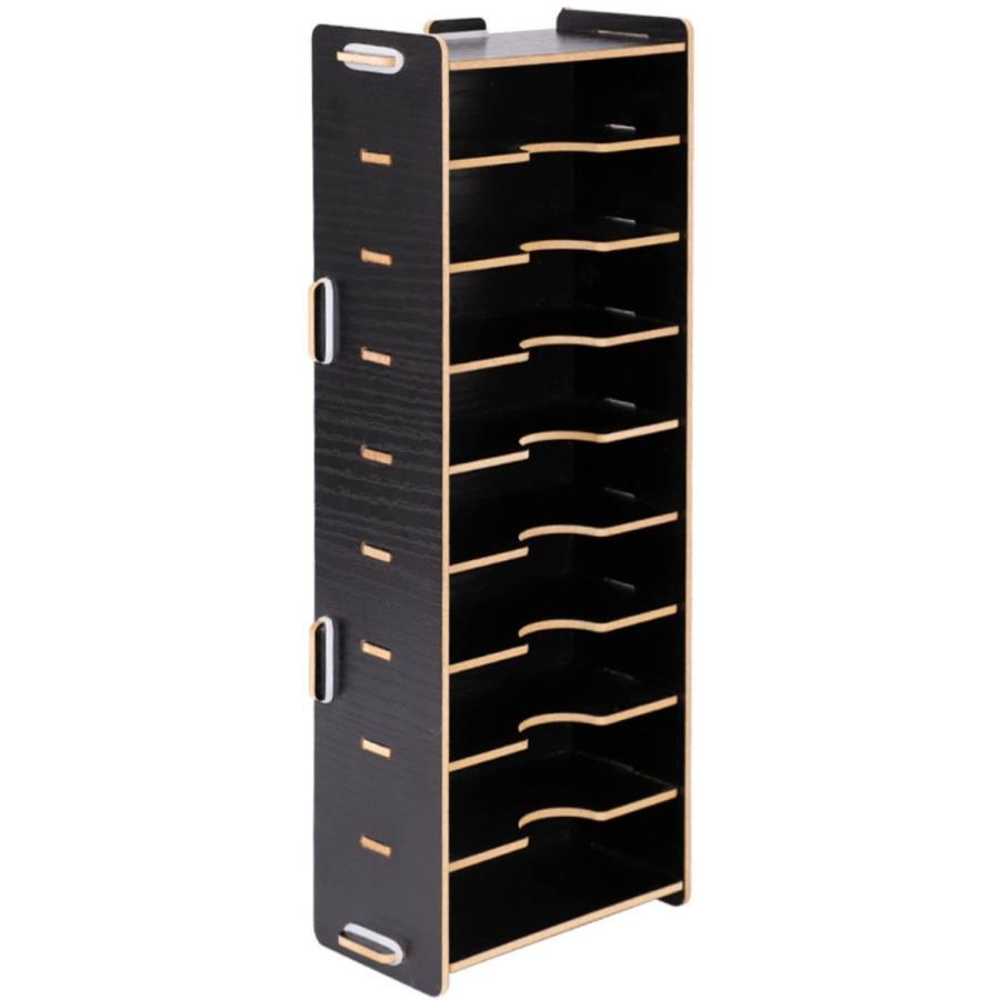 名刺ケース カードケース 8仕切り 木製 卓上収納ラック ロング型 名刺ホルダー めいし 整理箱 オフィス デスクオーガ|urarakastr|05