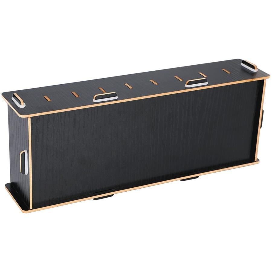 名刺ケース カードケース 8仕切り 木製 卓上収納ラック ロング型 名刺ホルダー めいし 整理箱 オフィス デスクオーガ|urarakastr|06