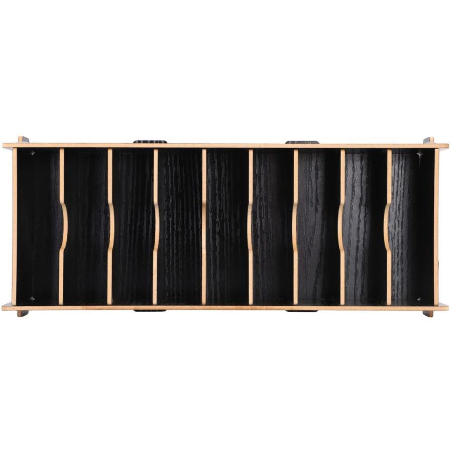 名刺ケース カードケース 8仕切り 木製 卓上収納ラック ロング型 名刺ホルダー めいし 整理箱 オフィス デスクオーガ|urarakastr|08
