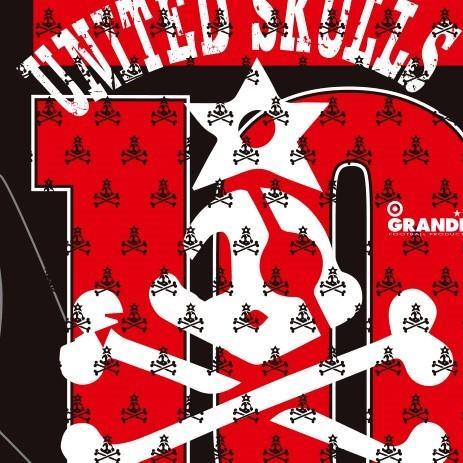 "GIANT KILLING from UNITED SKULLS×GRANDE ""俺たちのクラブ"" T-SHIRTS EAST TOKYO UNITED.BLK|urawa-football|03"
