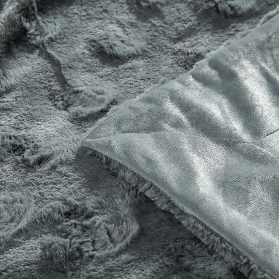 送料無料 毛布 ダブル フェイクファーブランケット エアコン対策 ひざ掛け ふわふわ 柔らかい 肌触りにやさしい マイクロファイバー 130cmx150cm グレー|urazaki2|13