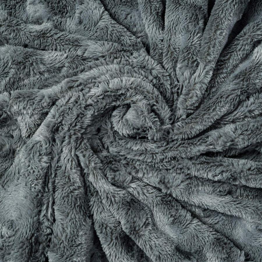 送料無料 毛布 ダブル フェイクファーブランケット エアコン対策 ひざ掛け ふわふわ 柔らかい 肌触りにやさしい マイクロファイバー 130cmx150cm グレー|urazaki2|16