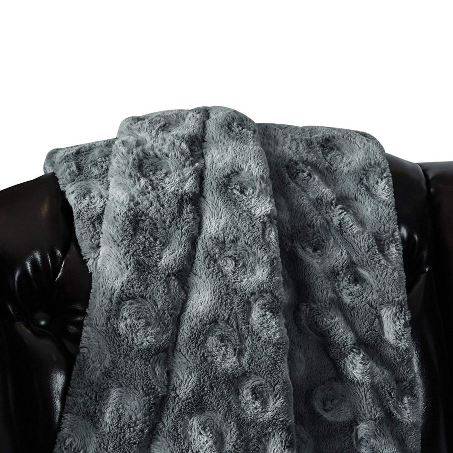 送料無料 毛布 ダブル フェイクファーブランケット エアコン対策 ひざ掛け ふわふわ 柔らかい 肌触りにやさしい マイクロファイバー 130cmx150cm グレー|urazaki2|08