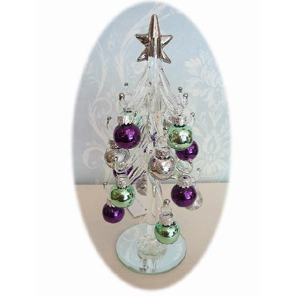 クリアーグラスツリー/パールボールset(クリスマス雑貨・ツリー)|uriel