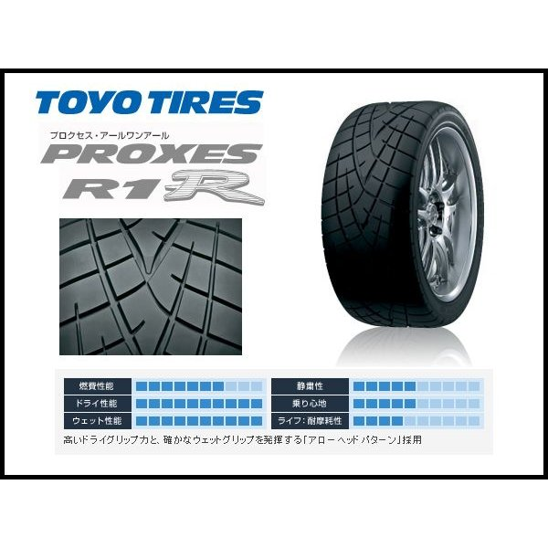 Toyo Proxes R1R Performance Radial Tire 195//55R15 85V