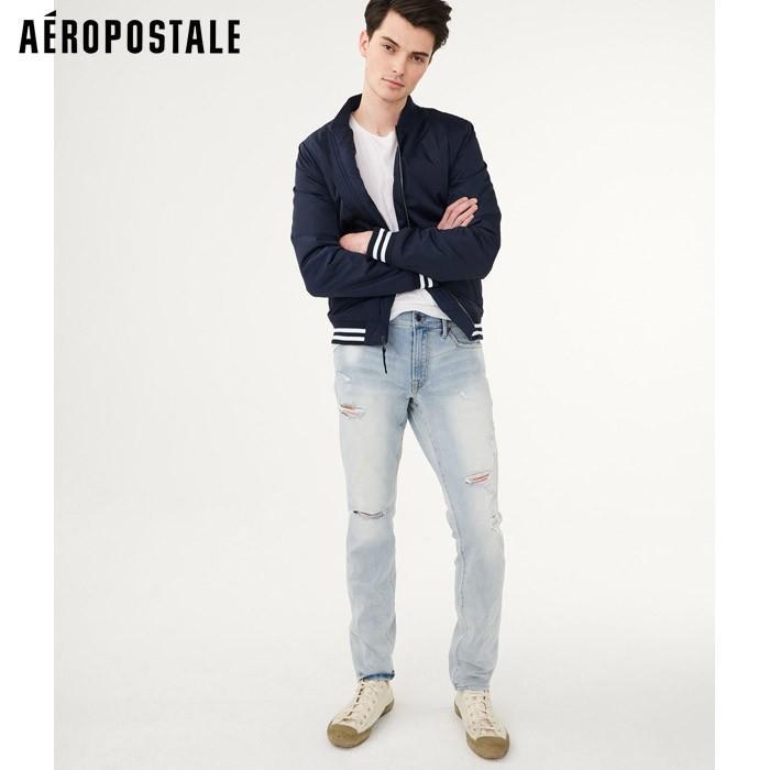 aeropostale mens flex effects super skinny black wash jean***