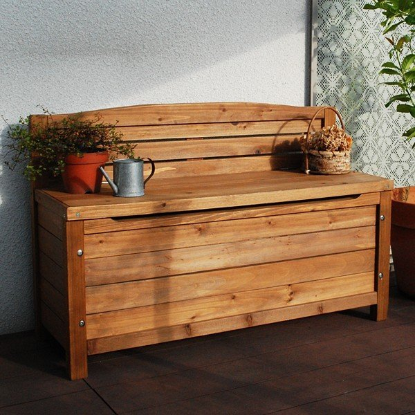ガーデンチェア 木製 椅子 ガーデニングベンチ チェア スツール 収納 省スペース 物入れ 屋外 庭 おしゃれ ウッド / ポイント2倍 / 送料無料