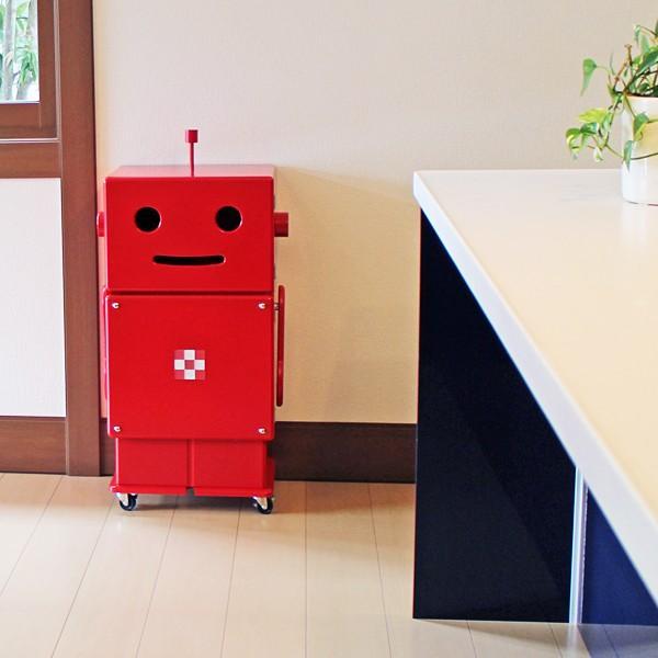 収納棚 子供用 子ども用 キッズ かわいい かわいい かわいい ラック 扉付き 本棚 おもちゃ箱 安全 日本製 木製 背面塗装 ロボット ROBIT ロビット ete エテ eda
