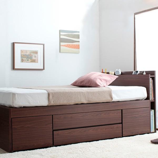 ベッドフレーム 収納スペース 引出し ダブルサイズ