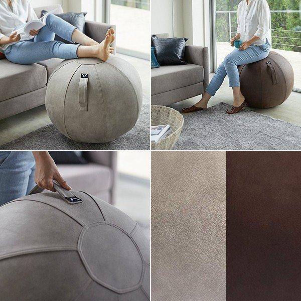バランスボール 65cm チェア 椅子 専用カバー レザー風 おしゃれ インテリア 持ち手つき