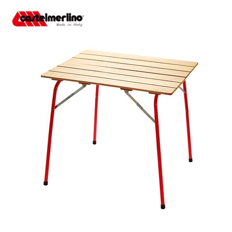 ハイ&ローキャンパーテーブル 80×60cm イタリアンレッド No.20052 アウトドア キャンプ テーブル 2段階 調節 折畳 折りたたみ ハイマウント ミSD [送料無料]