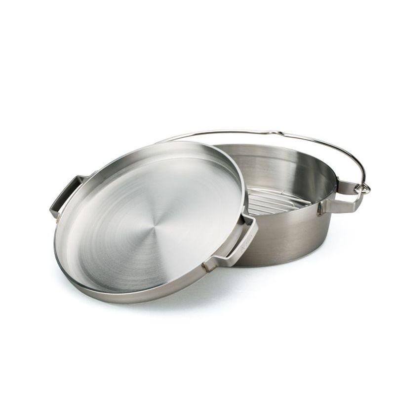 [送料無料] ステンレスダッチオーブン 10インチハーフ ST-910HF 鍋 調理 アウトドア キャンプ SOTO ソト 高KD