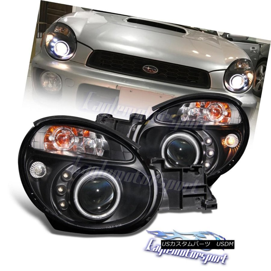 Silver Fog Lamp White Halo LED Bumper Lights fits 06 07 Subaru Impreza WRX STI