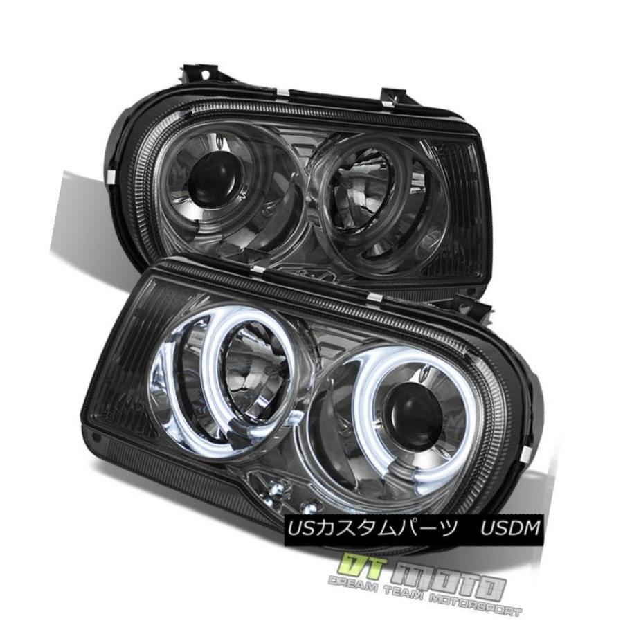 2005-2007 Chrysler 300 LED Halo Projector Headlights Lights Lamps Left+Right Set