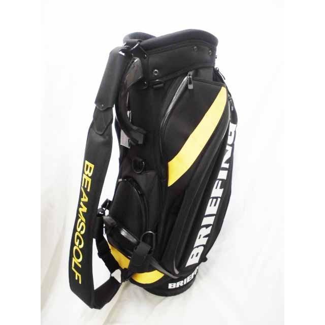 キャディバッグ  【 中古限定品 】ブリーフィング × ビームスゴルフ プロキャディバッグ 9.5型 ARMY BLACK ヘッドカバーセット