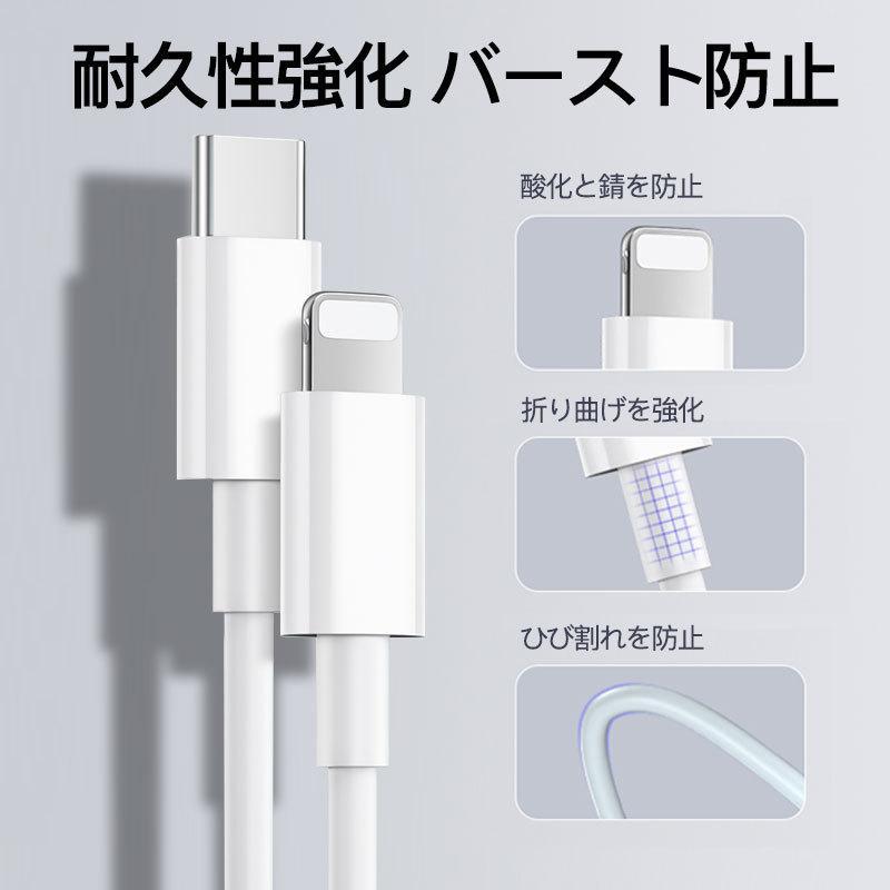 iphone12充電器 純正 iphone アダプター PD タイプc 2m 電源 アダプタ usb-c  type-c ケーブル アイフォン pse認証済 急速充電 ipad qc3.0 usenya 11