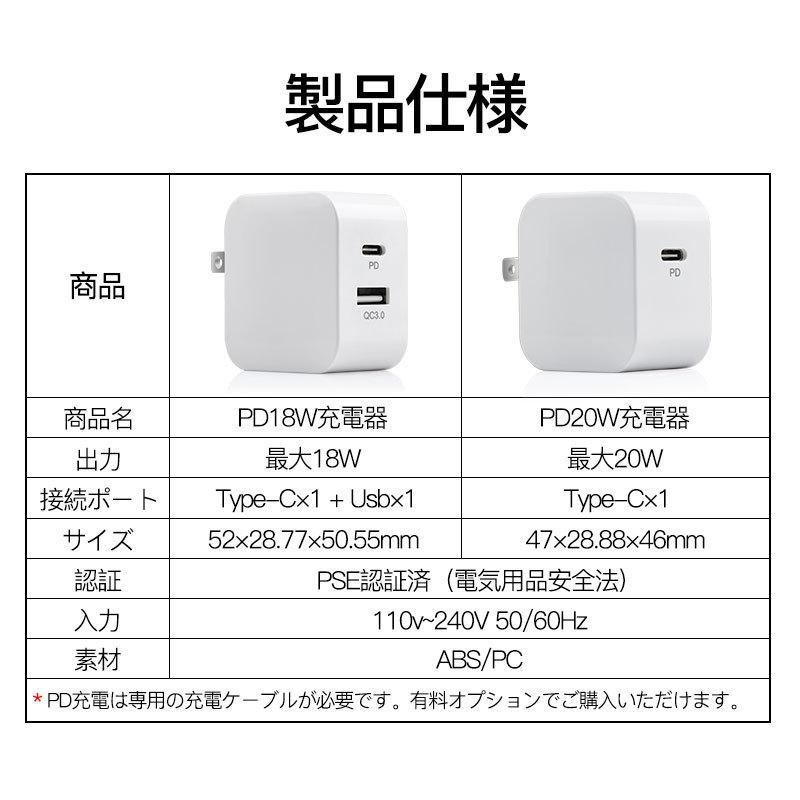 iphone12充電器 純正 iphone アダプター PD タイプc 2m 電源 アダプタ usb-c  type-c ケーブル アイフォン pse認証済 急速充電 ipad qc3.0 usenya 07