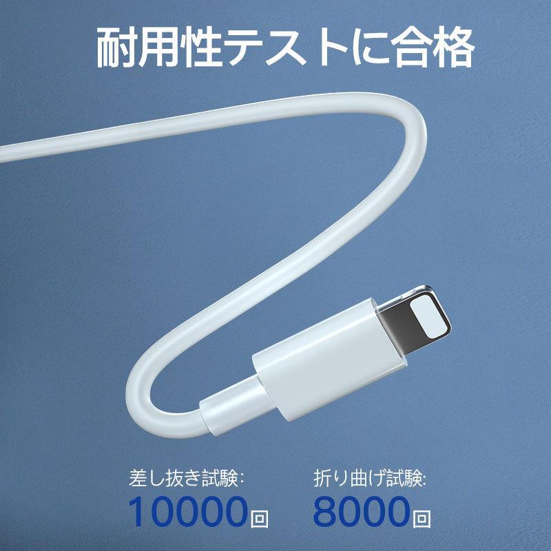 iphone12充電器 純正 iphone アダプター PD タイプc 2m 電源 アダプタ usb-c  type-c ケーブル アイフォン pse認証済 急速充電 ipad qc3.0 usenya 10