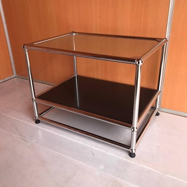 USM Haller ハラーシステム ガラス天板 ローテーブル/サイドテーブル グラファイトブラック|usm-haller-upcycle-u|03
