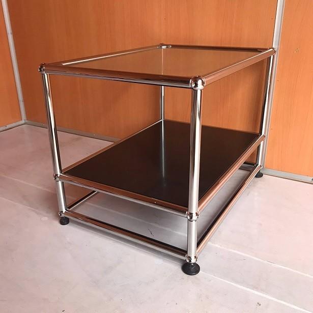 USM Haller ハラーシステム ガラス天板 ローテーブル/サイドテーブル グラファイトブラック|usm-haller-upcycle-u|04