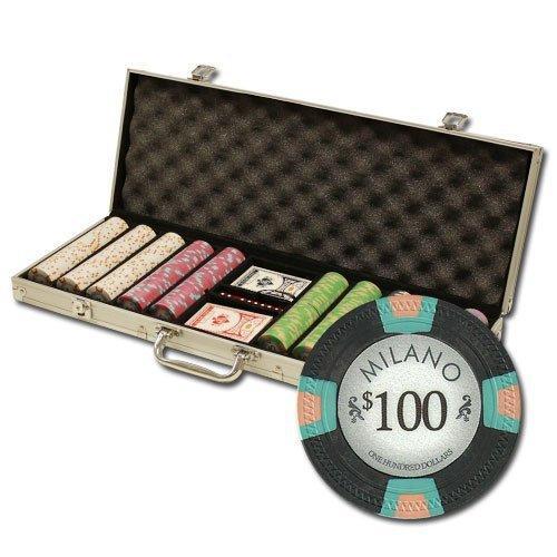 送料無料!500·CtミラノPoker Chipセットby Claysmithゲームinアルミニウムケース